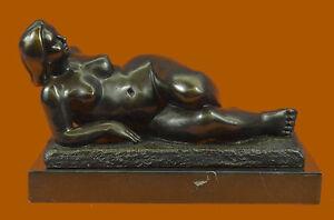 Handmade bronze sculpture Rel Nude Botero To Tribute Milo Original SignUG