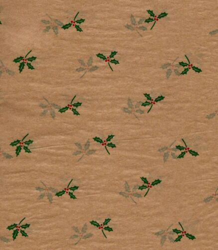 240 Sheets BULK PRICING* Christmas HOLLY Tissue Paper  # 763