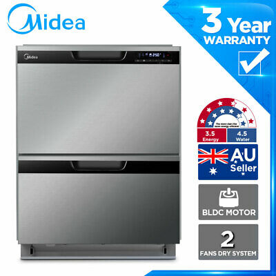 Details about  MIDEA Double Drawer Dishwasher 30 minute Rapid Wash Child Lock