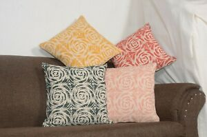 4-Pcs-Set-of-Decorative-Pillow-Indian-Block-Print-Cushions-Cover-Handmade-Kilim