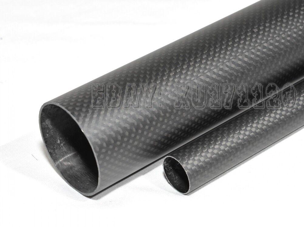 Rollo envuelto tubo de fibra de carbono 3K 96mm100mm1000mm Tubo Mate De Mejor Calidad