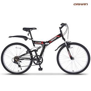 26 Folding 7 Speed Mountain Bike Bicycle Shimano Hybrid