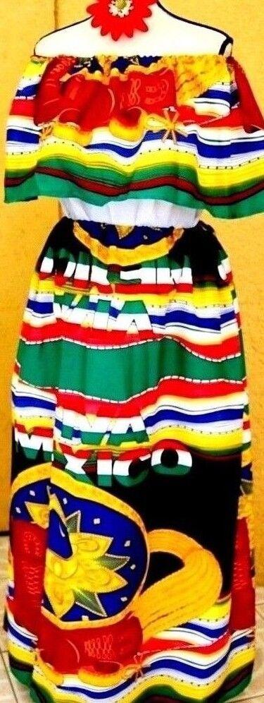 Mexico Dress multiFarbe Off Shoulder Adelita Viva Mexico Sombrero logo 5 de Mayo