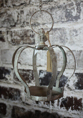 DEKO-Krone Metall Shabby chic Grau Vintage Landhaus Antik Lilie Garten