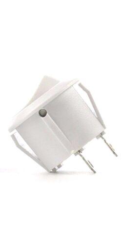 NUOVO 14 mm di diametro 16 mm Labbro PICCOLO BIANCO TONDO Rocker Switch 2 Pin ON-OFF