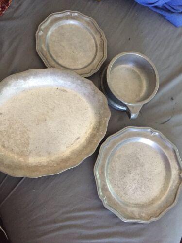 Craft American by Bon Chef Inc Kenilworth NJ Set of Pewter ware Dinner Set