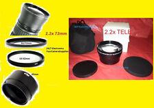 2.2x TELEPHOTO LENS 72mm+ADAPTER  NIKON L810 L 810+UV 62mm+62/72 mm COOLPIX