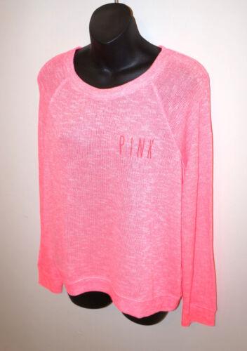 transparent Nwt tricot Pull Love Secret Victoria's à rose en manches longues et qaqPZHw