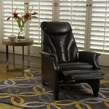 Vatop Contemporary Espresso Color Leather Recliner Chair