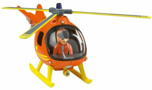 Toy Fireman Sam Helicopter Mountian Rescue Vehicle avec figure new boxed