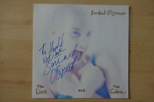 Sinead-O-Connor-Autogramm-signed-LP-Cover-034-The-Lion-and-the-Cobra-034-Vinyl