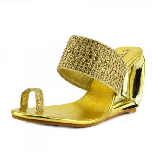 donna tacco alto donna da metallizzato oro da Scarpe con A8Xqx