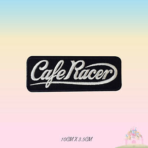 Cafe-Racer-Biker-Embroidered-Iron-On-Sew-On-Patch-Badge-For-Clothes-etc