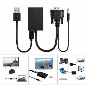 Male-To-HDMI-Output-1080P-HD-Audio-TV-AV-HDTV-Video-Cable-Converter-Adapter-Lwx