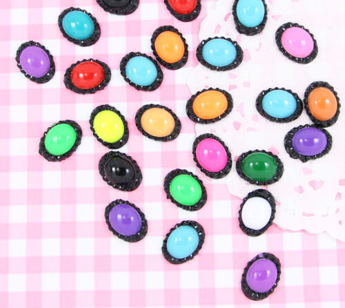 Oval OR Square Shaped Colourful Embellishments Cardmaking Crafts UK 20 x Heart