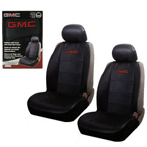 Incredible Details About New 2 Front Gmc Elite Synthetic Leather Car Truck Suv Sideless Seat Covers Set Andrewgaddart Wooden Chair Designs For Living Room Andrewgaddartcom