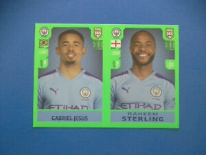 Figurine-Panini-Fifa-365-2019-20-2020-n-57-Gabriel-Jesus-Sterling-Manchester-C