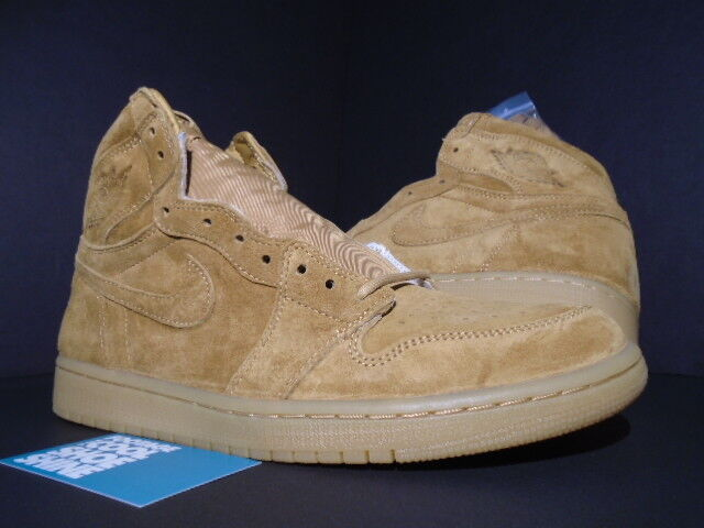 NIKE AIR I JORDAN I AIR RETRO 1 HIGH OG WHEAT GOLDEN HARVEST BROWN GUM 555088-710 9.5 75c06a