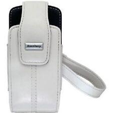 Genuine BlackBerry Pearl 8100 8110 8120 Lambskin Leather Swivel Holster - White