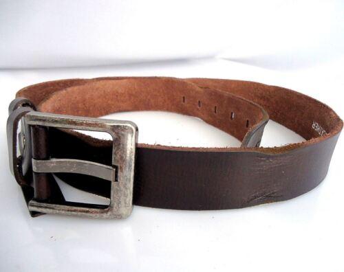 Genuine Leather belt 43mm for mens womens Waist handmade classic brown size XXL
