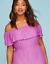 Lane-Bryant-Womens-Off-the-Shoulder-Ruffle-Maxie-Dress-Plus-14-16-18-20-Orchid thumbnail 6