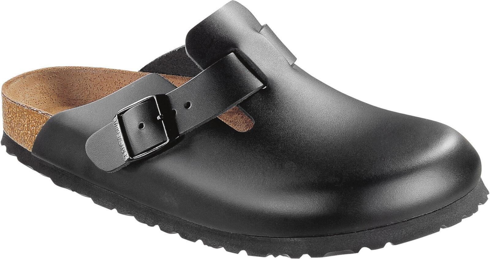 Schuhe BIRKENSTOCK Clog BOSTON, Oberteil Naturleder, WEITE FORM, Größen wählbar