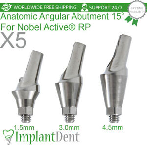 5-Anatomic-Angular-Abutment-15-For-Nobel-Biocare-Active-Hex-RP-Dental-Implant