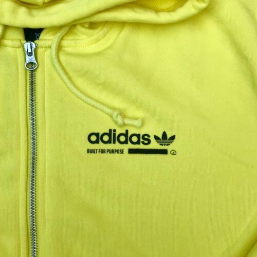 Adidas Full Zip Fleece Cotton Bright Yellow Men's Hoodie