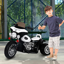 Moto Eléctrica Coche Triciclo Niños + 18 meses 6V Metal + PP Negro Blanco