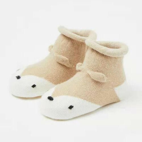 Kid Infant Toddler Baby Boy Girl Cartoon Animals Anti-Slip Knitted Warm Socks US