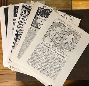 Charles-Manson-News-Clippings-Tate-LaBianca-Trial-True-Crime-137-pages