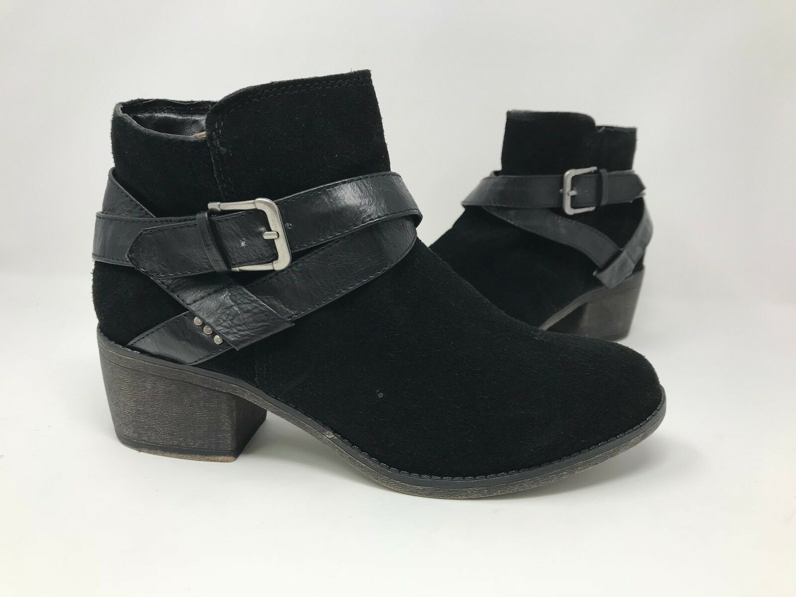 New! Women's Sonoma Brindle 088048 Suede Ankle Boots - Black B37