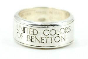 Silber-Ring-UNITED-COLORS-OF-BENETTON-925-Sterling-Silber-Groesse-55-Ref-3191