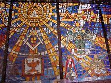 SCOTTISH RITE MASONIC MUSEUM jigsaw puzzle Stained Glass Window symbols 1970s