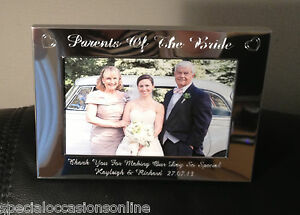 Personalised Engraved Landscape 6 X 4 Photo Frame Mother Of Bride