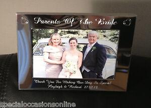 Personalised Engraved Landscape 6 X 4 Photo Frame Mother Of Bride