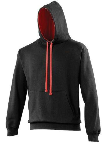 Just Hoods AWDis Varsity  JH003 Hoodie Hoody Hooded Preppy Sweatshirt