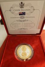 *Cook Island 20 $ 2008  3 Oz Silber/Goldapplic. PP *European Treasures /Vatikan