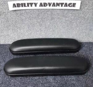 10-034-Wheelchair-Armrest-Pads-EXTRA-DENSITY-FOAM-ARM-PADS-Black-NEW-PAIR