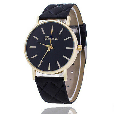 Fashion Women Geneva Roman Watch Lady Leather Band Analog Quartz Wrist Watches