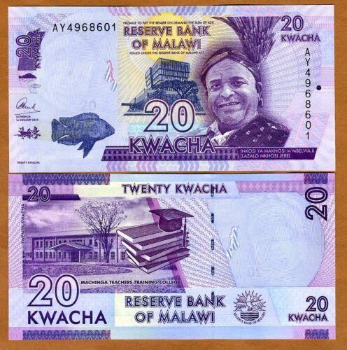 UNC Pick 57 Malawi 2015 57b 20 Kwacha