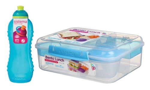 Sistema SET -Bento Lunchbox 1,65L m.Obstbech+Squeeze Bottle,460ml-blau 21690+785