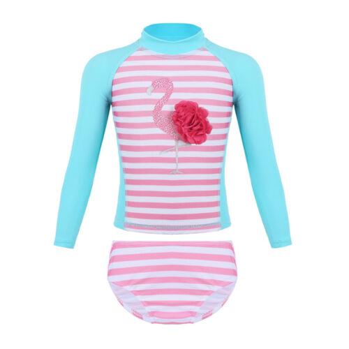 Baby Girls UPF 50 Rash Guard Swimwear Swimsuit Tankini Bathing Suit Beachwear