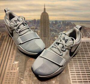 067615f66914 Nike PG 1 Paul George 1 Glacier Grey Navy GS Grade School Size 4Y ...