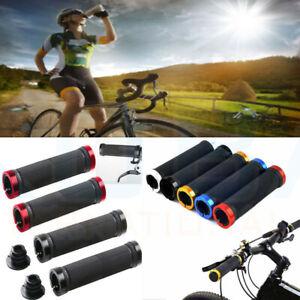 Double-Lock-On-Verrouillage-BMX-MTB-Mountain-Bike-Cycle-Bicycle-Handle-Bar-Grips-NEU