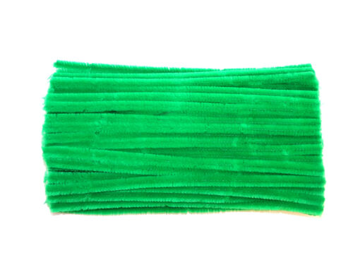 Children's Green Pipe Cleaners6mm or 12mm30cm Length