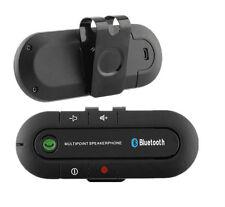 Wireless Multipoint Bluetooth Hands  Car Kit Speakerphone Speaker Visor Clip