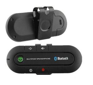 Wireless Multipoint Bluetooth Hands Car Kit Speakerphone Speaker Visor Clip EF