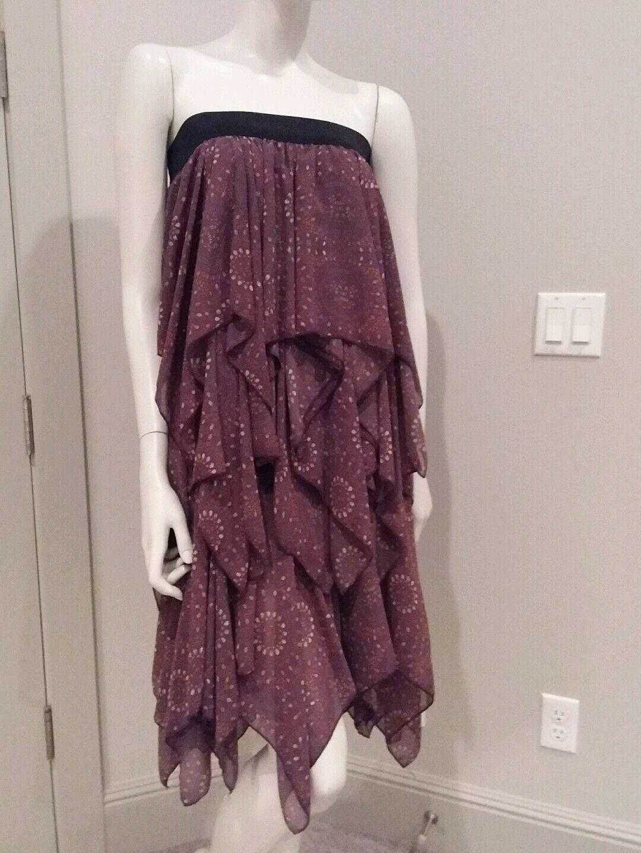 Freie Menschen Ärmellos Gestuft Kleid Maxikleid Sz XS  128