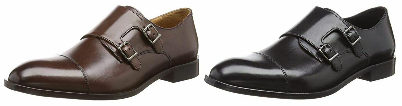 Geox Herren U Saymore Slipper Derby Schnallenschuhe Business Schuhe U825LE SALE